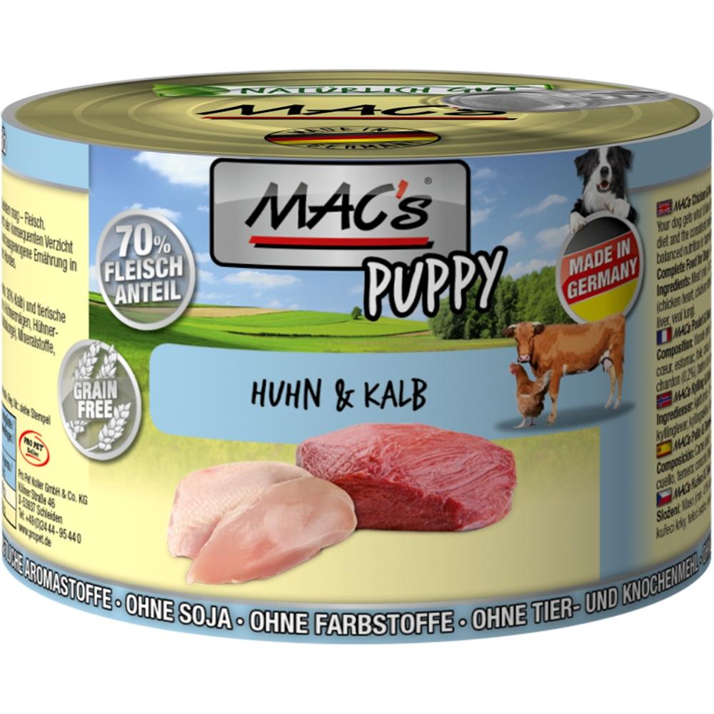 Mac's Dog Puppy Huhn & Kalb