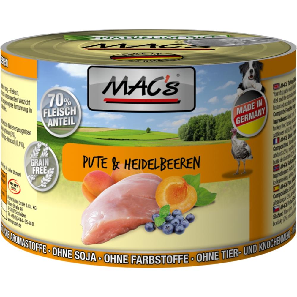 Mac's Dog Pute & Heidelbeeren
