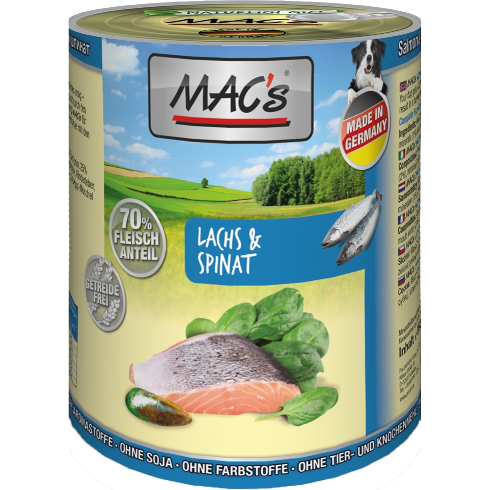 Mac's Dog Lachs, Pasta & Spinat