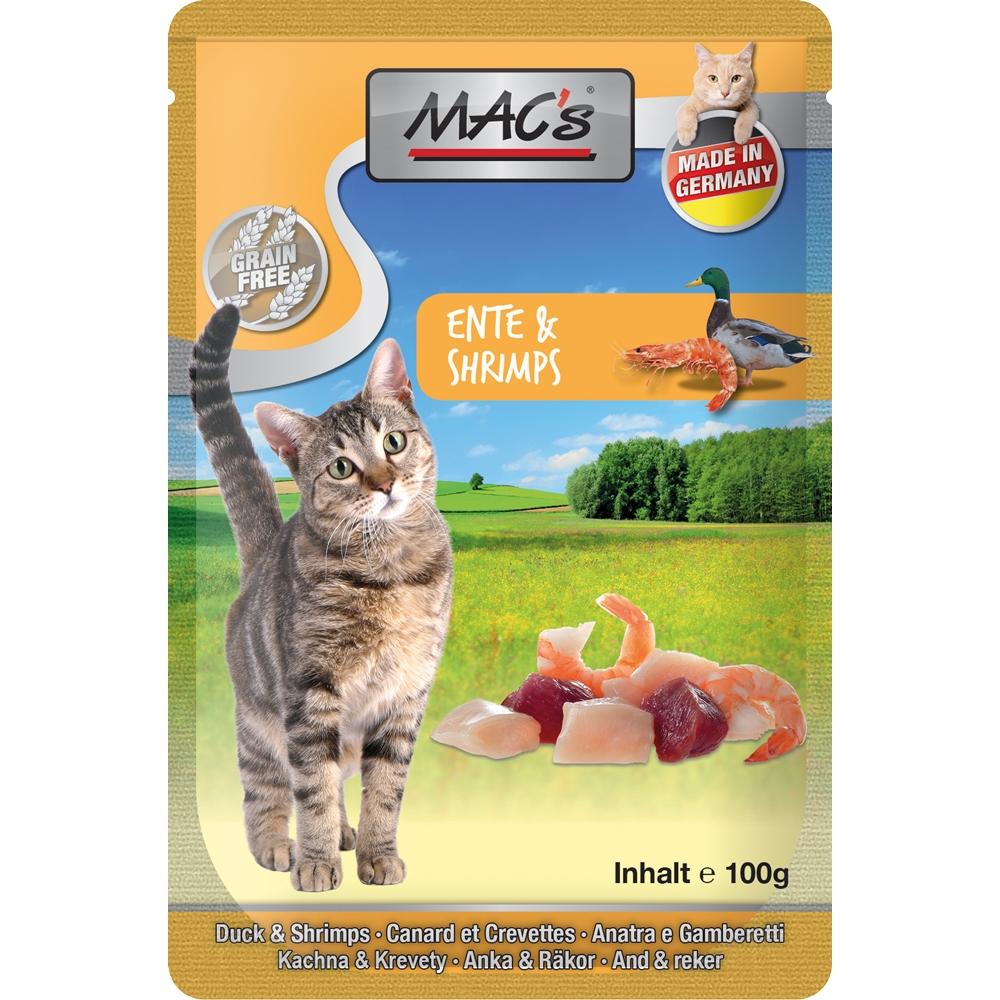 Mac's Cat Pouchpack Ente & Shrimps 100g