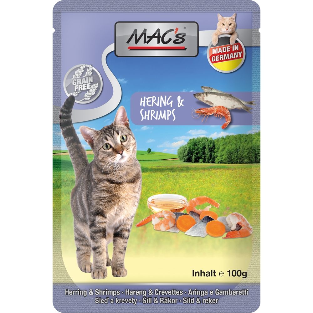 Mac's Cat Pouchpack Hering & Shrimps 100g