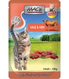 Mac's Cat Pouchpack Kalb, Rind & Cranberry 100g