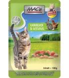 Mac's Cat Pouchpack Kaninchen, Geflügel & Löwenzahn 100g