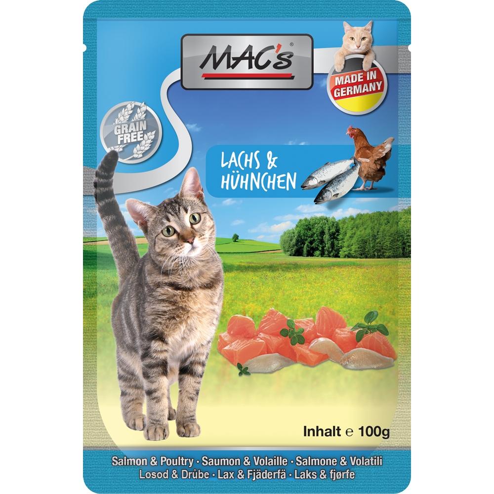 Mac's Cat Pouchpack Lachs, Geflügel & Preiselbeeren 100g