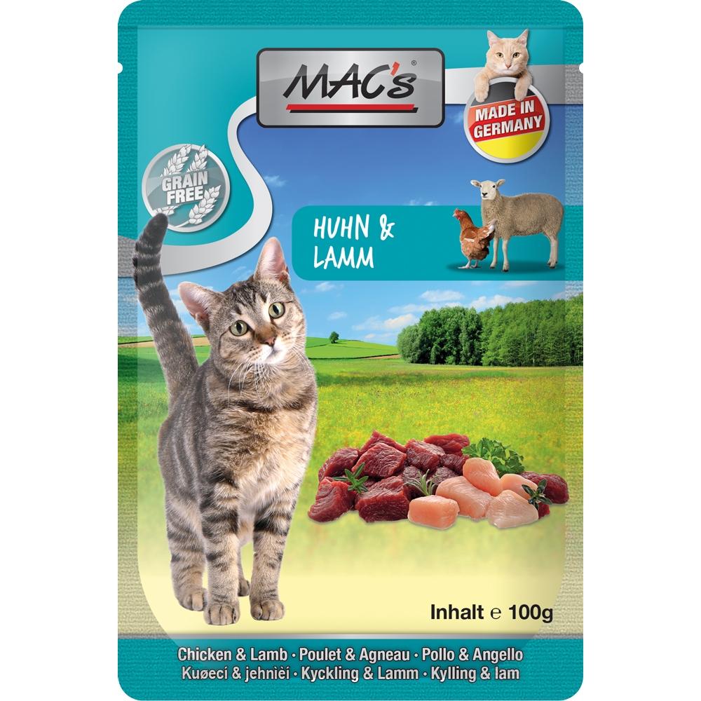 Mac's Cat Pouchpack Huhn & Lamm 100g