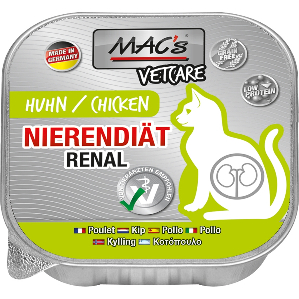 Mac's Cat Vetcare Nierendiät Huhn 100g