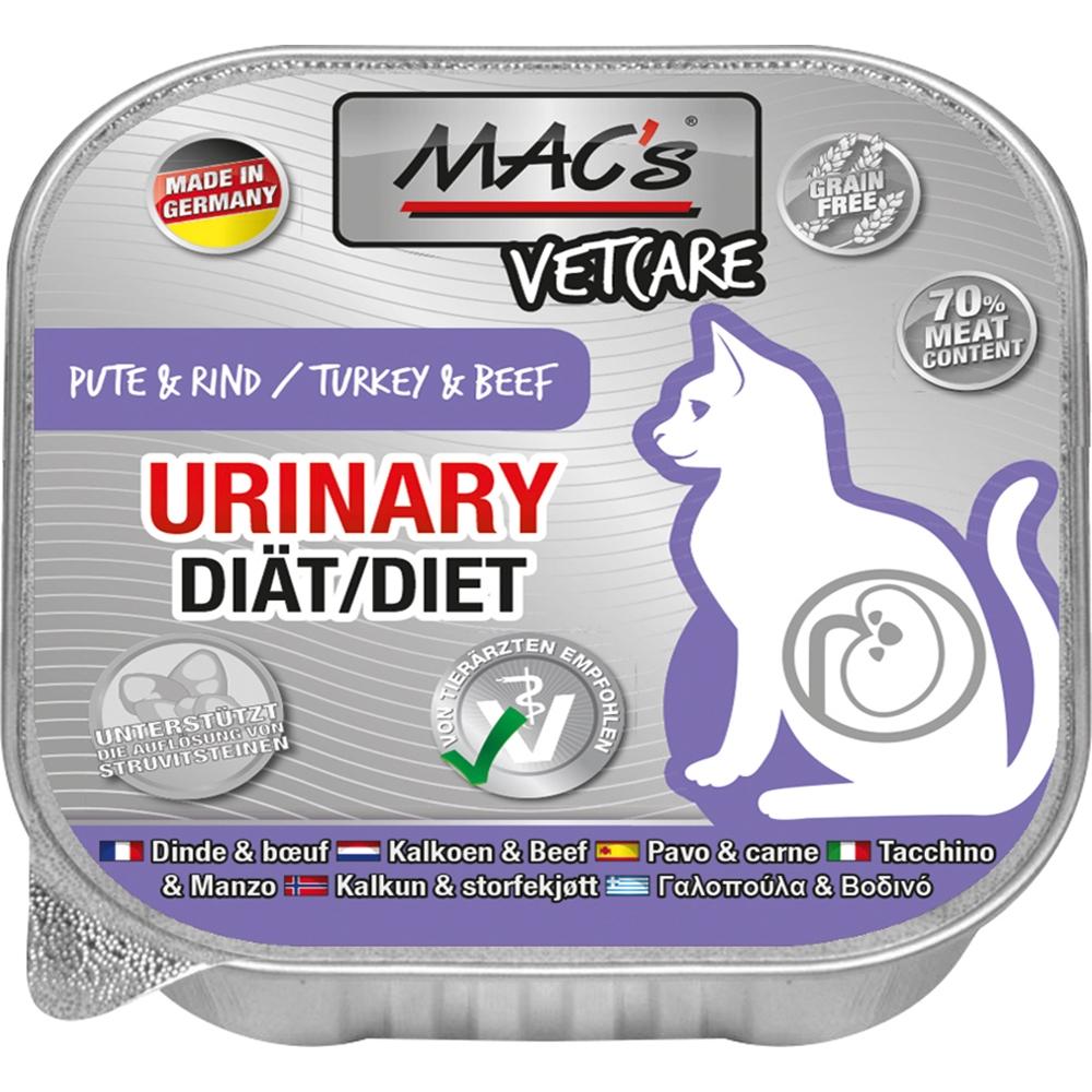 Mac's Cat Vetcare Urinary Pute & Rind 100g