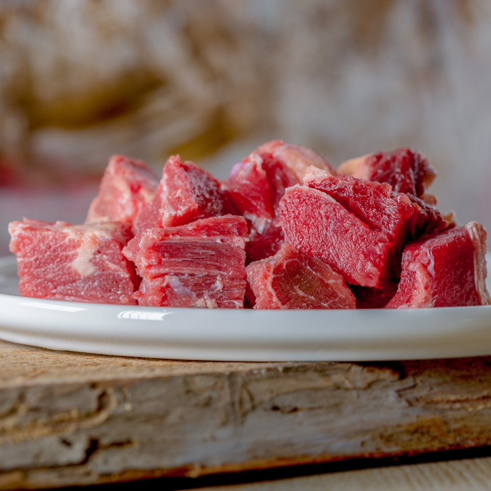 Barfgold Muskelfleisch Rindermuskelfleisch durchwachsen gewürfelt