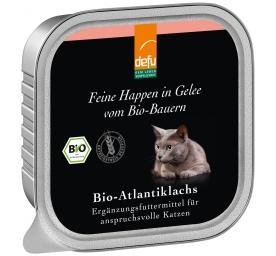Defu Cat Feine Happen in Gelee Bio-Atlantiklachs 100g