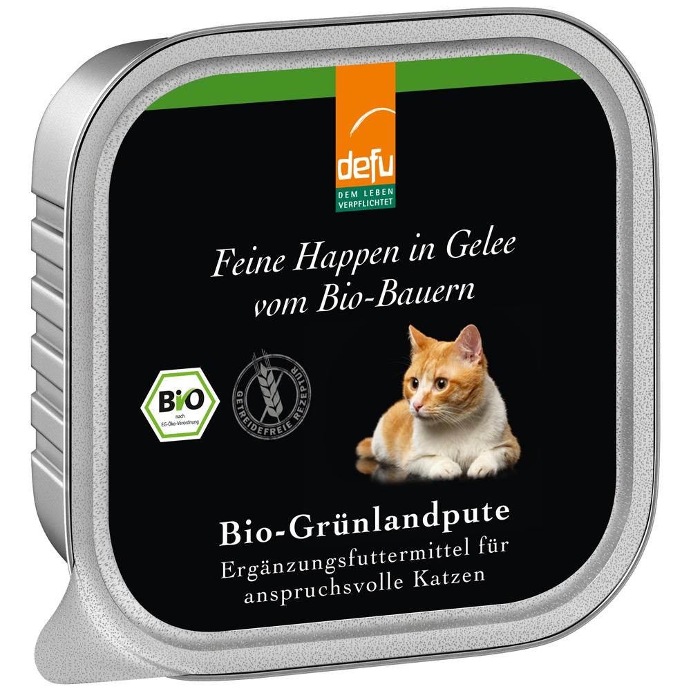 Defu Cat Feine Happen in Gelee Bio-Grünlandpute 100g