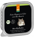 Defu Cat Feine Happen in Gelee Bio-Hofhuhn 100g