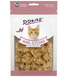 Dokas Cat Mini-Steaks mit Huhn & Kabeljau 40g