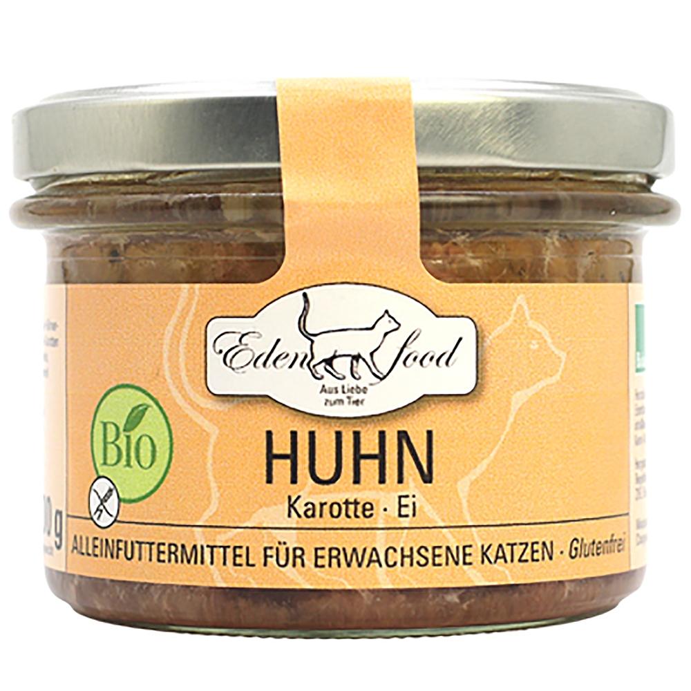 Edenfood Cat Bio-Menü Huhn, Karotte & Ei 200g