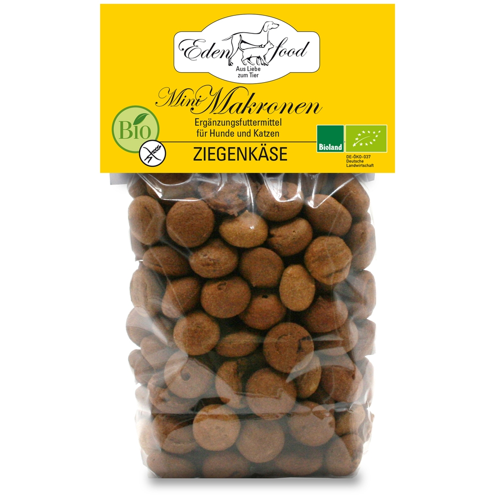 Edenfood Mini Bio-Makronen Leckerli Ziegenkäse 100g