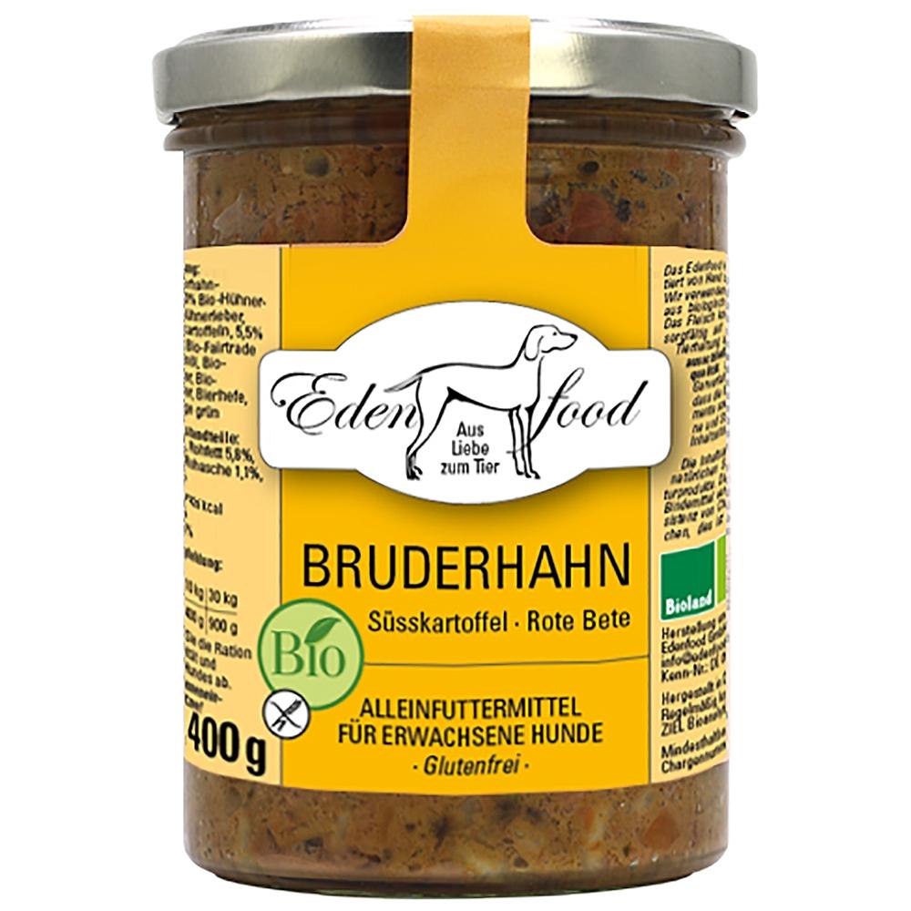 Edenfood Dog Bio-Menü Bruderhahn, Süßkartoffel & Rote Bete