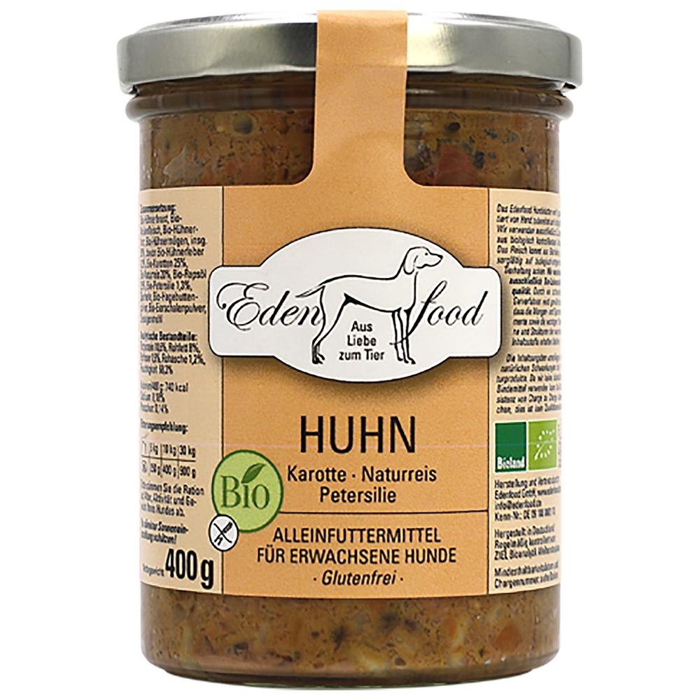 Edenfood Dog Bio-Menü Huhn, Karotte, Naturreis & Petersilie