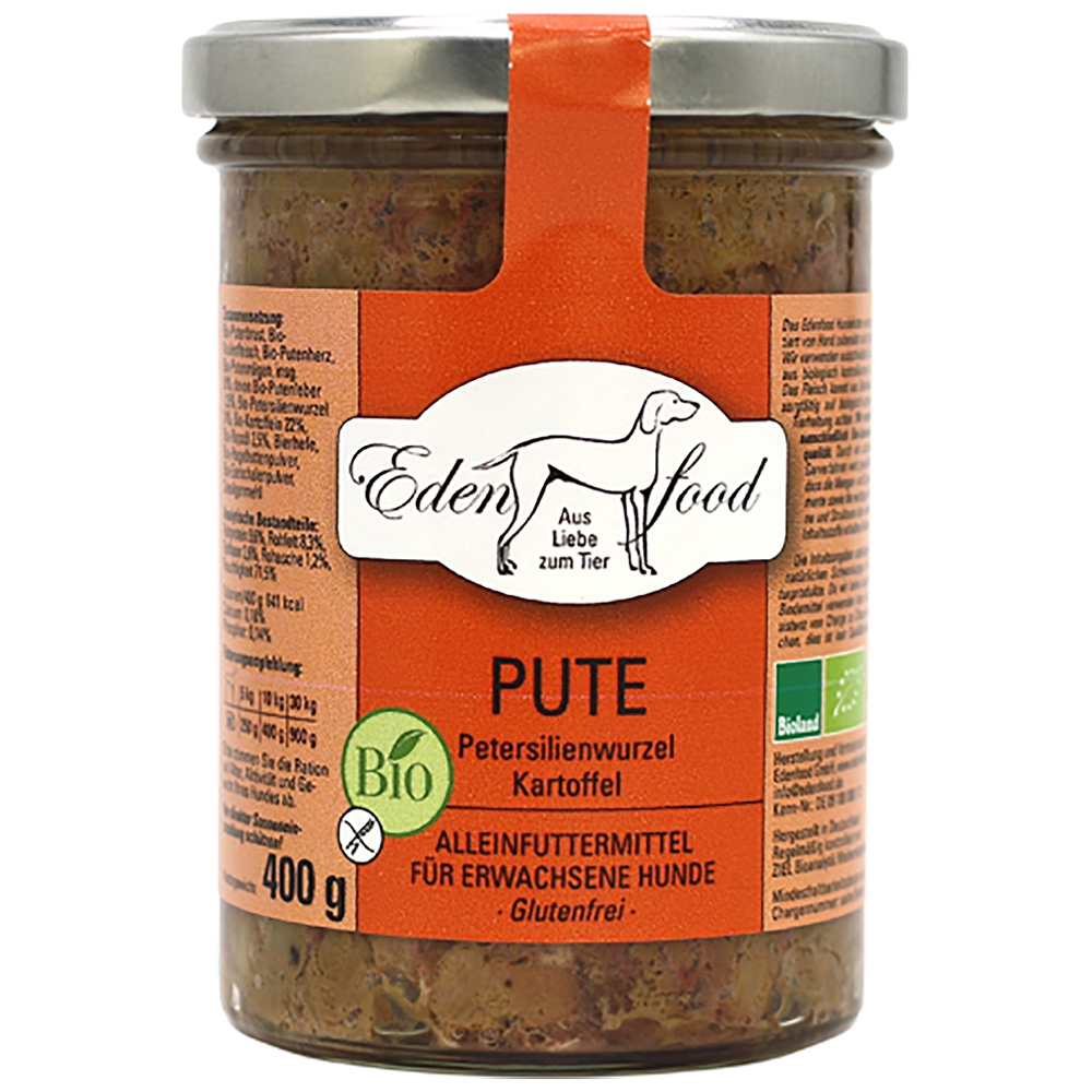 Edenfood Dog Bio-Menü Pute, Petersilienwurzel & Kartoffel