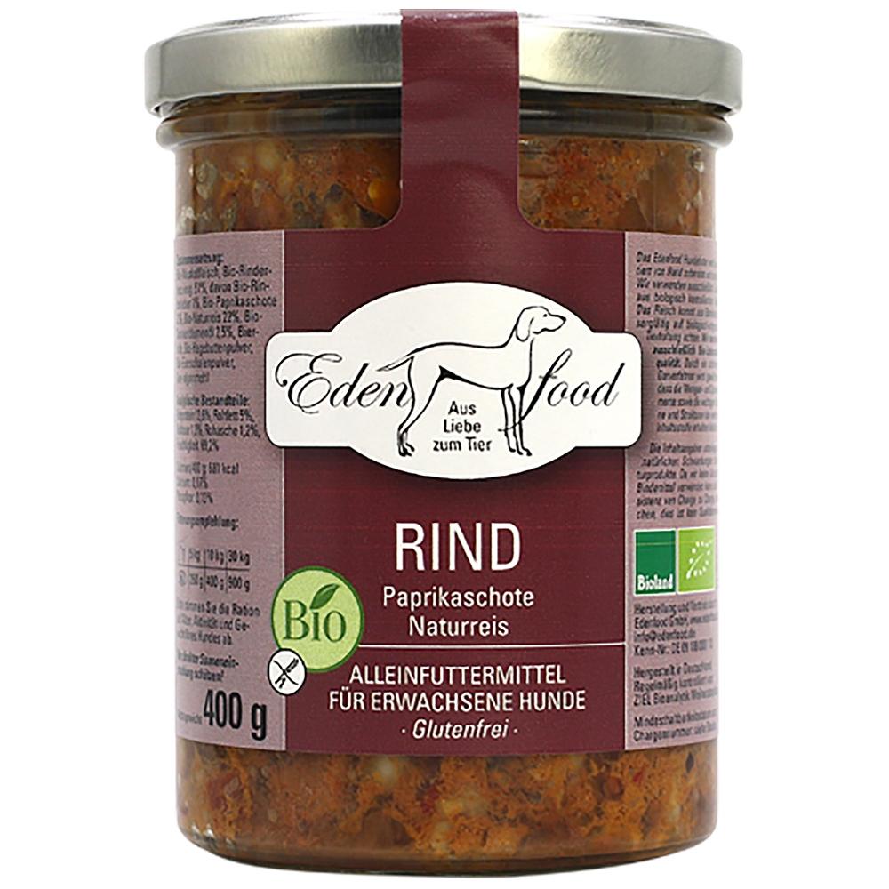 Edenfood Dog Bio-Menü Rind, Paprikaschote & Naturreis
