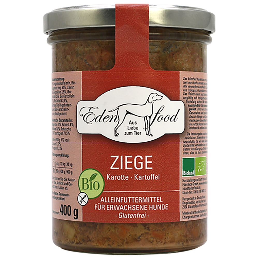 Edenfood Dog Bio-Menü Ziege, Karotte & Kartoffel