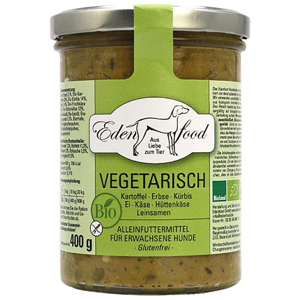 Edenfood Dog Bio-Menü Vegetarisch Kartoffel, Erbse, Kürbis, Ei & Käse