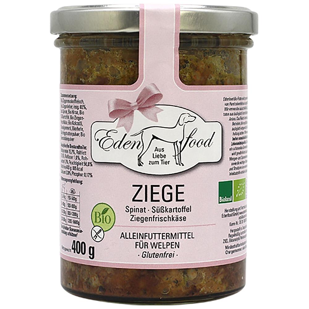 Edenfood Dog Bio-Menü Welpe Ziege, Spinat, Hirse & Süßkartoffel