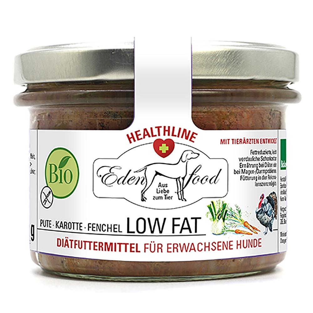 Edenfood Healthline Low Fat Bio-Hundemenü Pute, Karotte & Fenchel