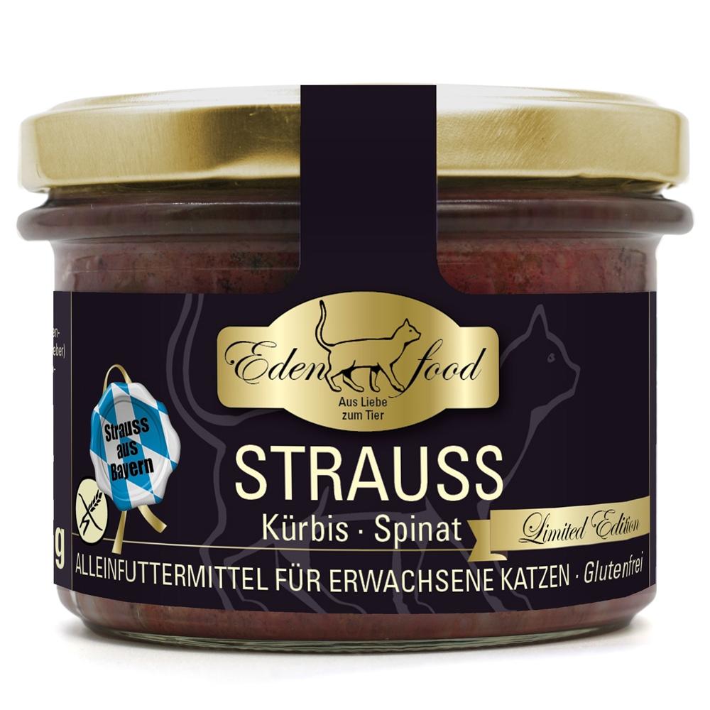 Edenfood Cat Limited Edition Strauss, Kürbis & Spinat 200g