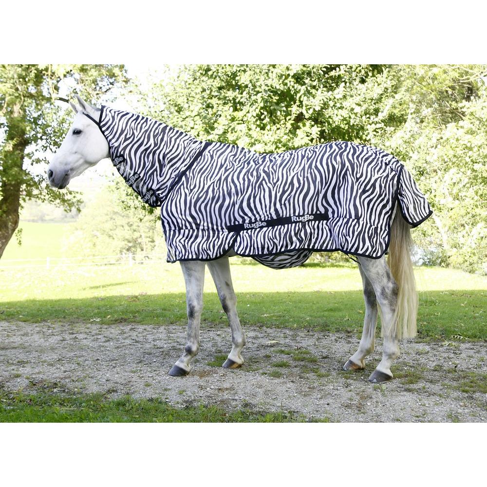 Kerbl RugBe Zebra Fliegen- und Ekzemerdecke mit Halsteil
