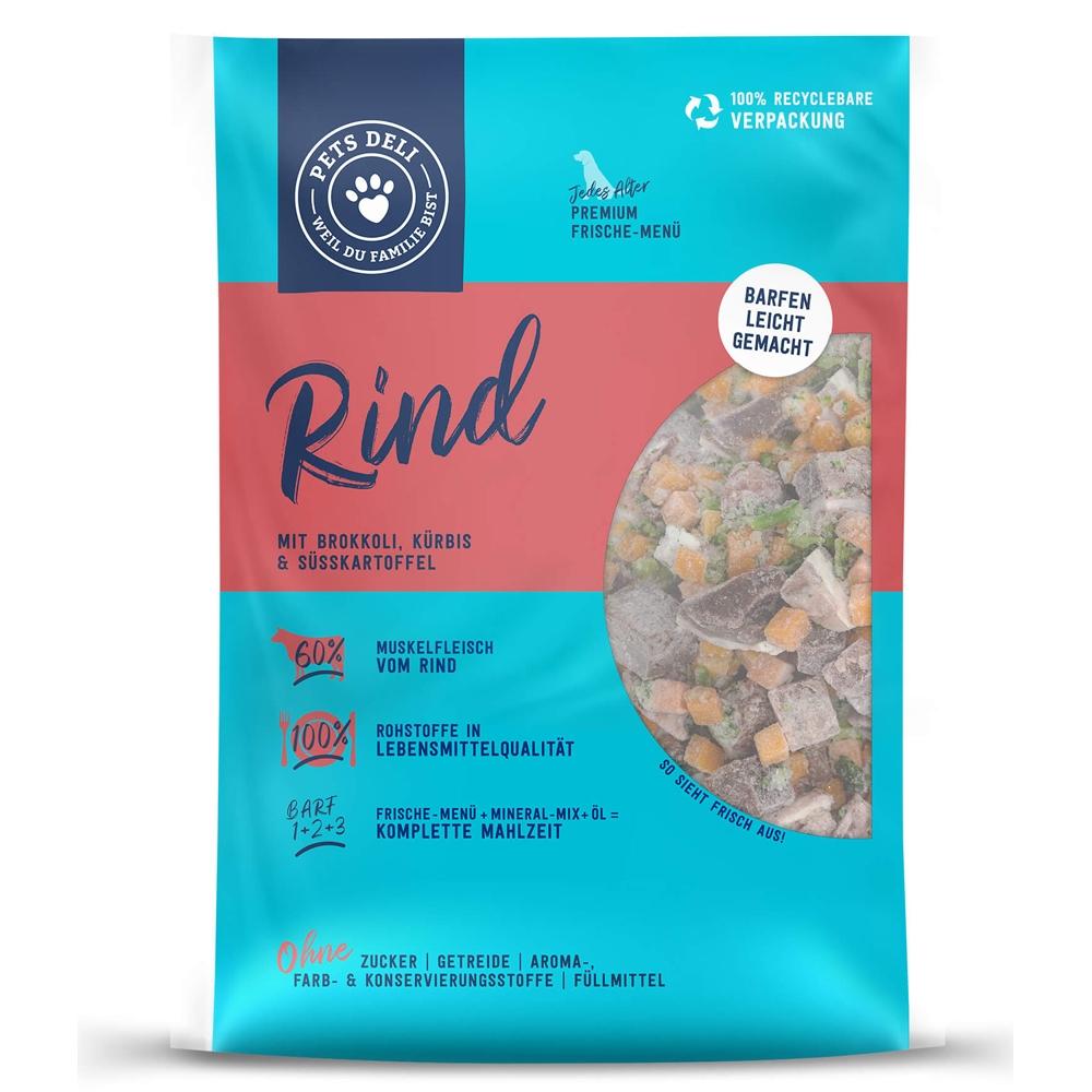 Pets Deli Dog Frische-Menü Classic Rind mit Brokkoli, Kürbis & Süsskartoffel 1400g
