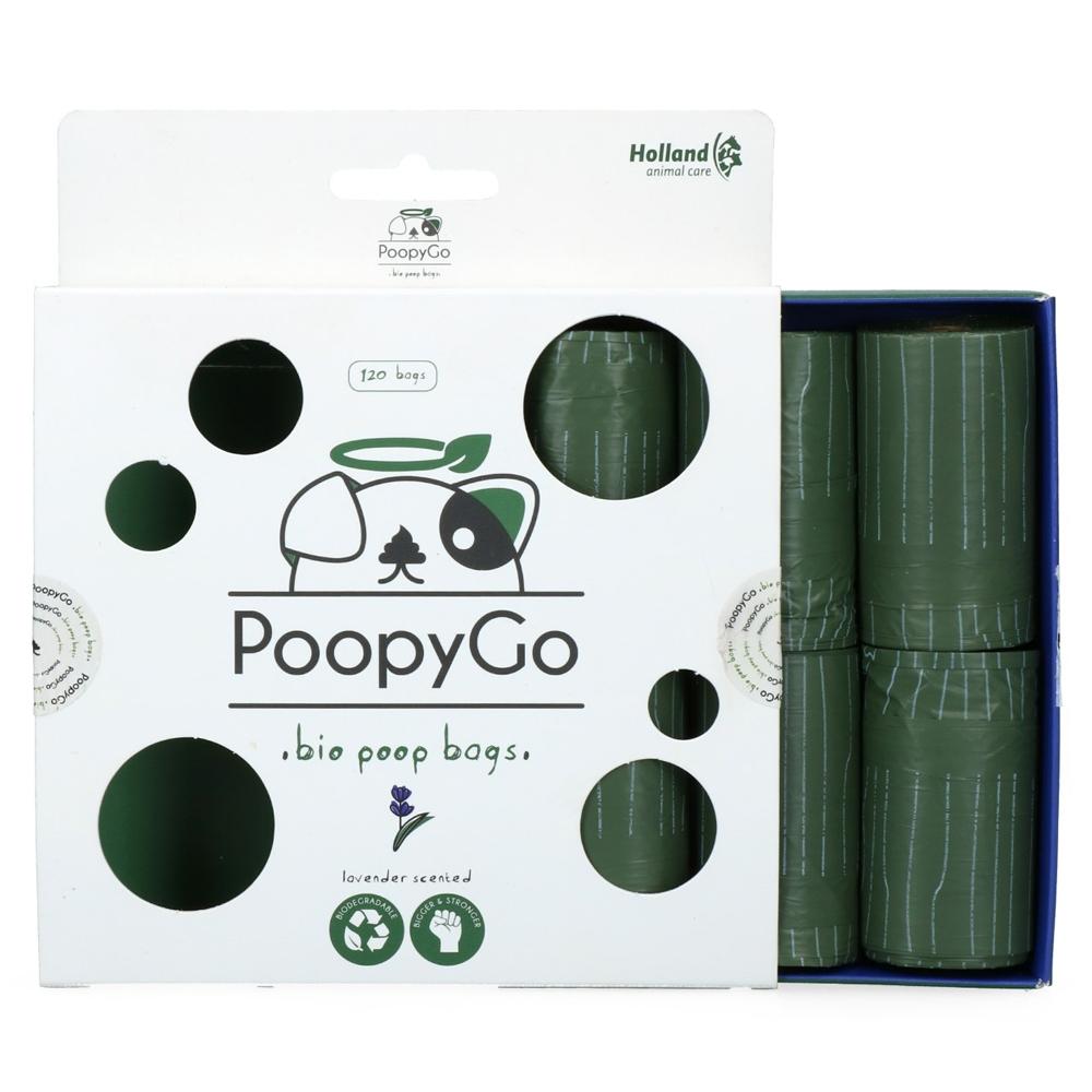 PoopyGo Eco Kotbeutel Lavendel