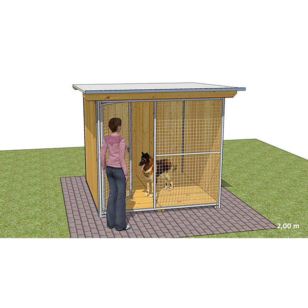 """Dog'Kennel Systems Hundehaus """"Confort"""" 2 x 2m"""