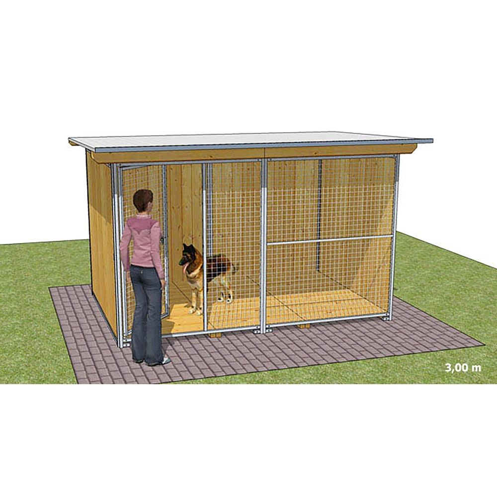 """Dog'Kennel Systems Hundehaus """"Confort"""" 3 x 2m"""