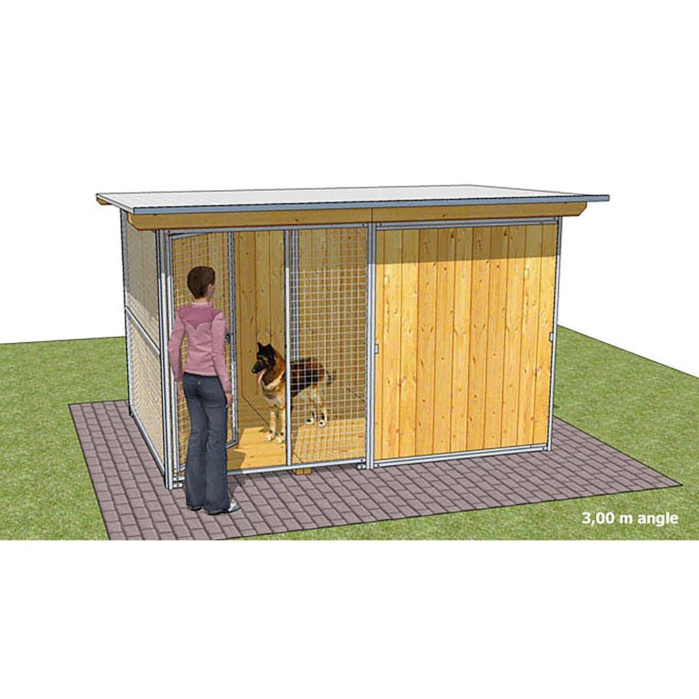 "Dog'Kennel Systems Hundehaus mit Ecke ""Confort"" 3 x 2m"
