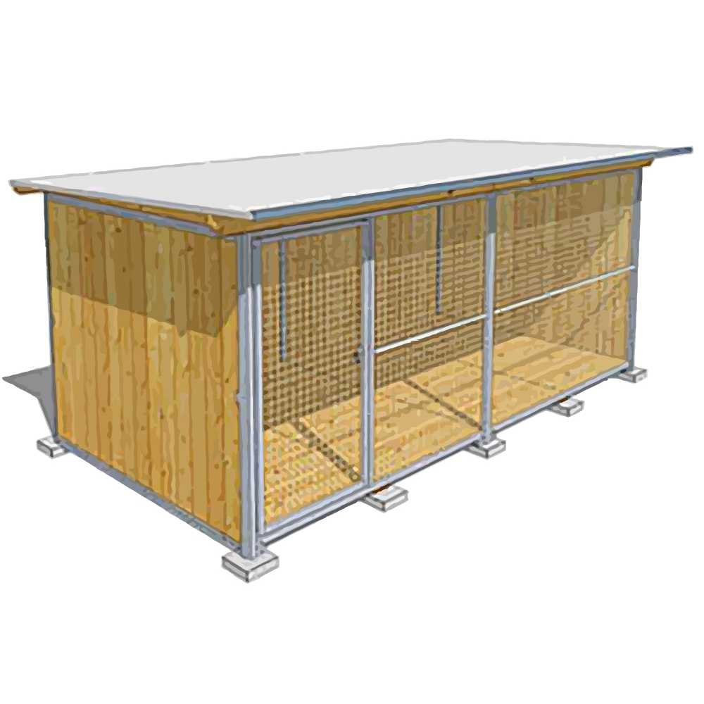 """Dog'Kennel Systems Hundehaus """"Confort"""" 4 x 2m"""