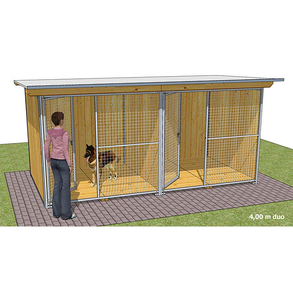"""Dog'Kennel Systems Hundehaus """"Confort"""" Duo 4 x 2m"""