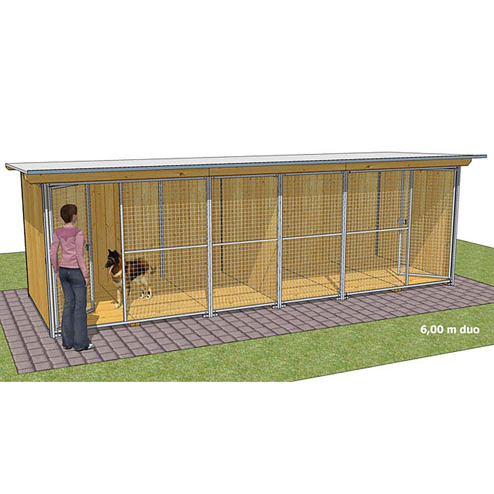"""Dog'Kennel Systems Hundehaus """"Confort"""" Duo 6 x 2m"""