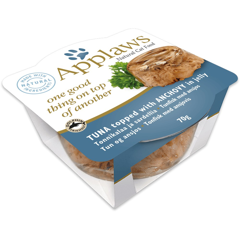 Applaws Cat Topped Thunfisch & Sardelle 70 g