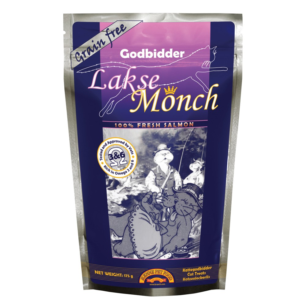 Henne Pet Food Cat Snack Lakse Monch 175 g