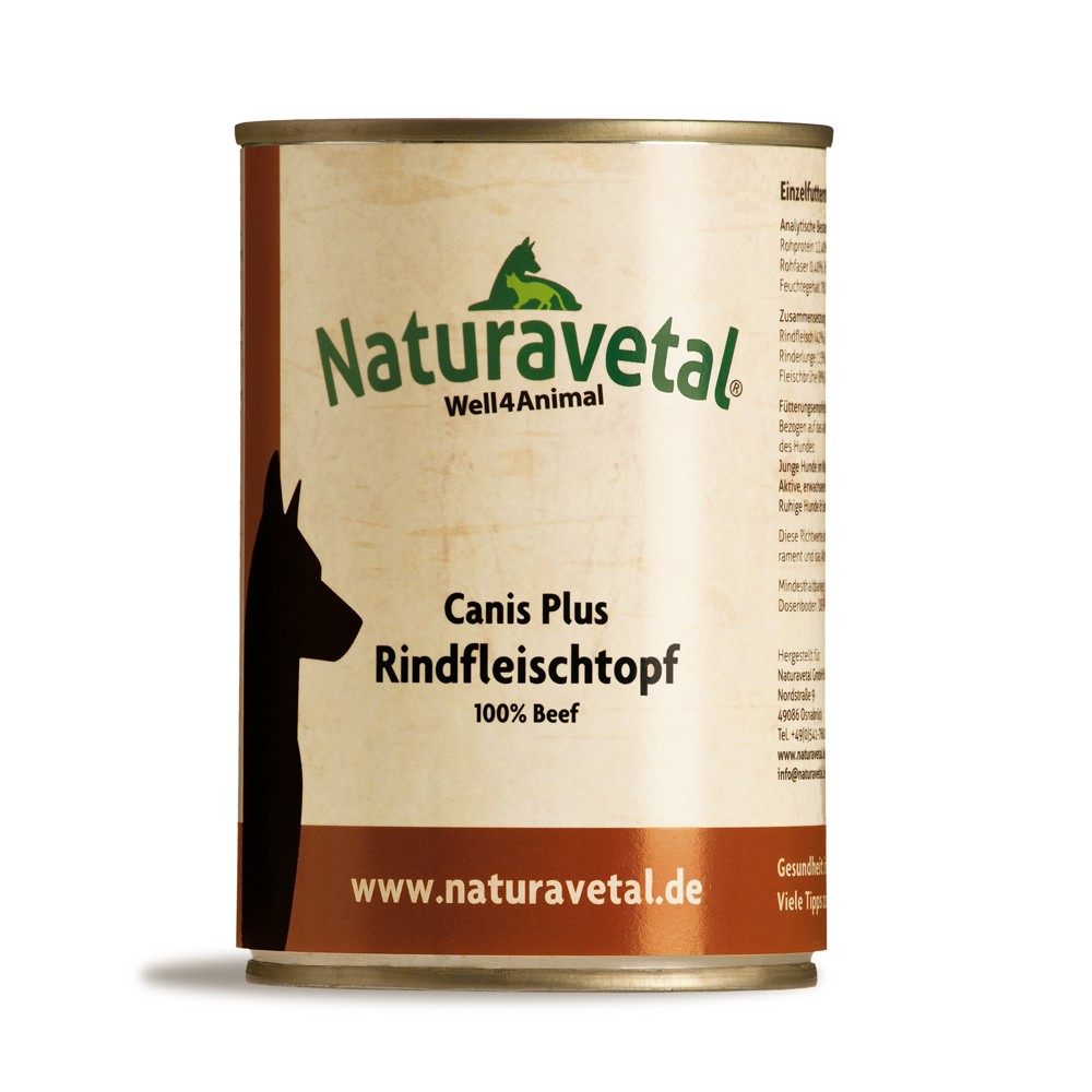 Naturavetal Canis Plus Fleischtopf Rind
