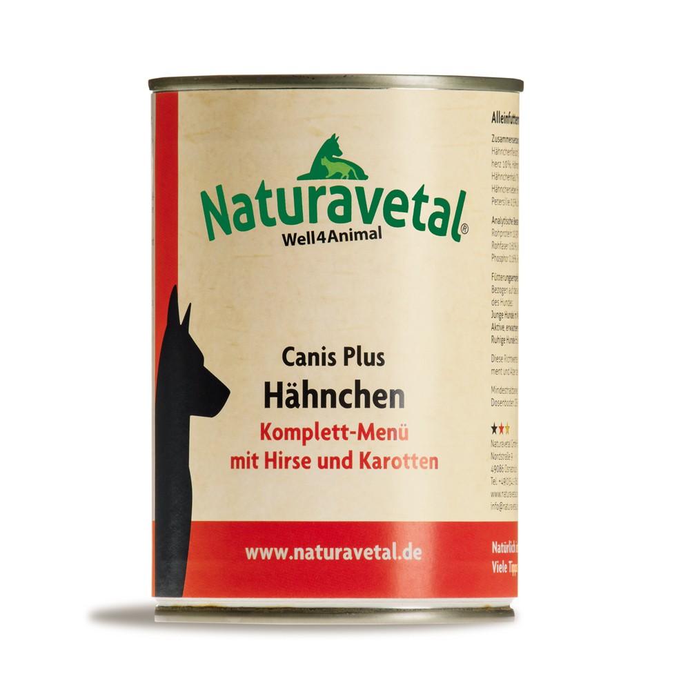 Naturavetal Canis Plus Komplettmenü Hähnchen