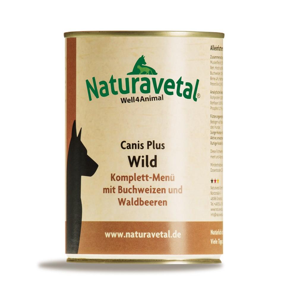 Naturavetal Canis Plus Komplettmenü Wild