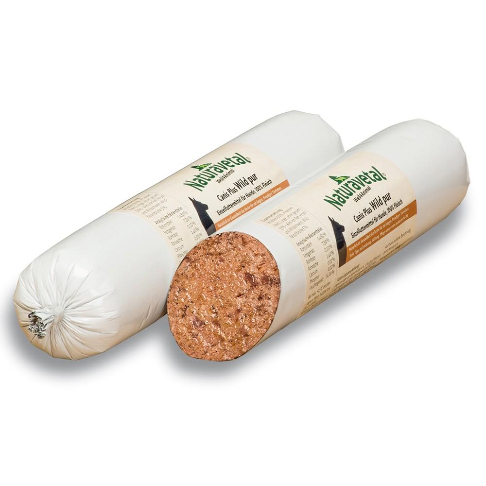 Naturavetal Canis Plus Fleisch-Rolle Wild pur 500 g
