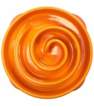 Dog Games Slo-Bowl Slow Feeder Coral Mini Summer Orange