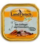 LandFleisch Cat Schlemmertopf Geflügel & Entenherz 100g