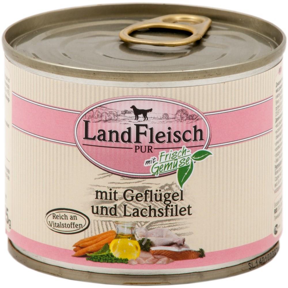 LandFleisch Dog Geflügel & Lachsfilet