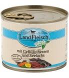 LandFleisch Dog Geflügelherzen & Seelachs
