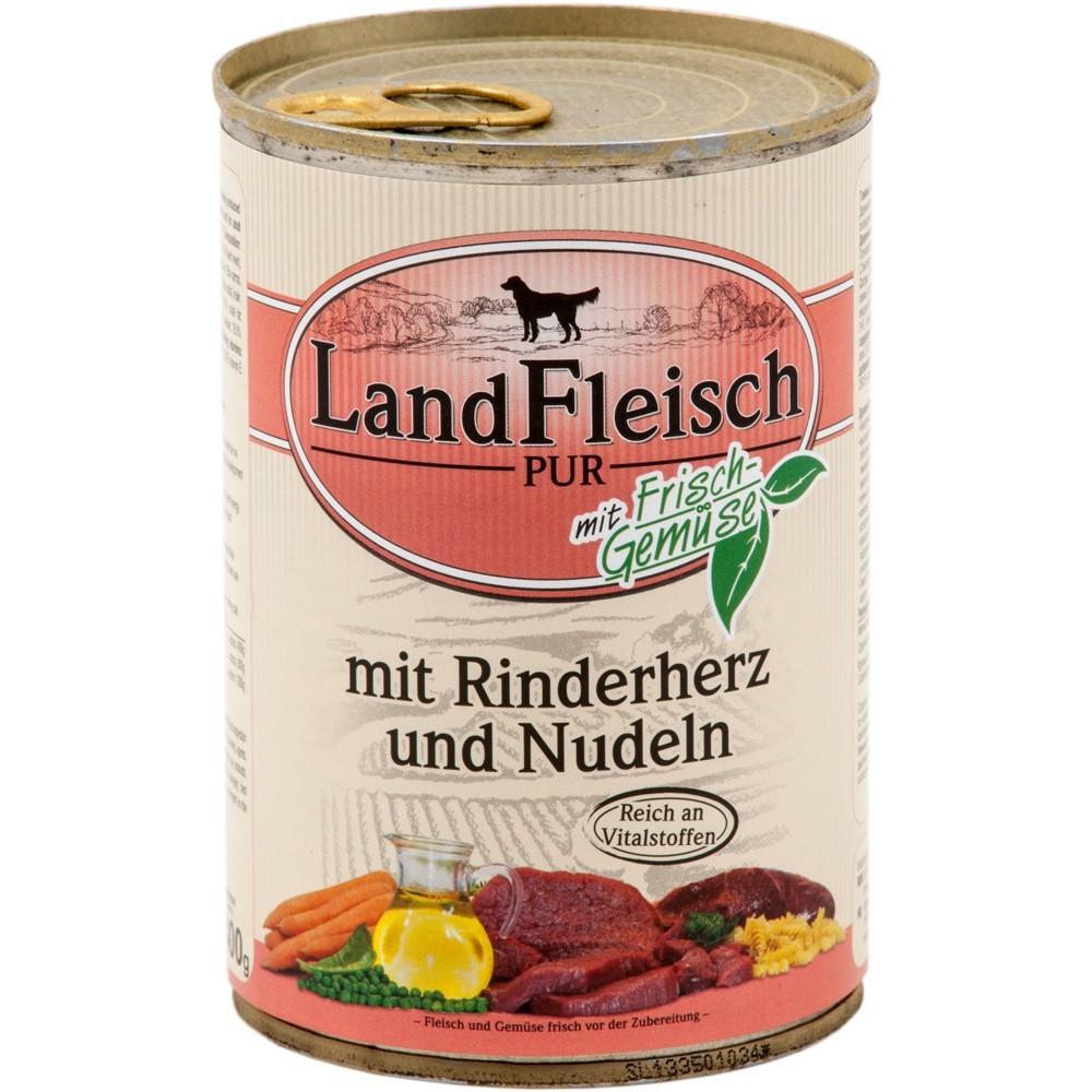 LandFleisch Dog Rinderherz & Nudeln