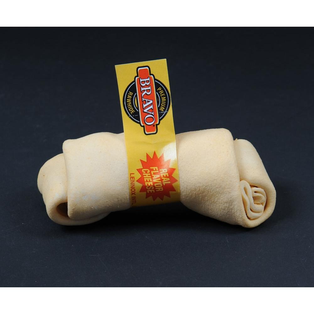 Bravo Rawhide Kauknochen mit Knoten Käse