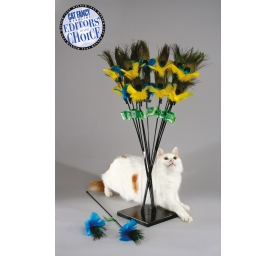 Vee Enterprises Peacock Feather Cat Toy
