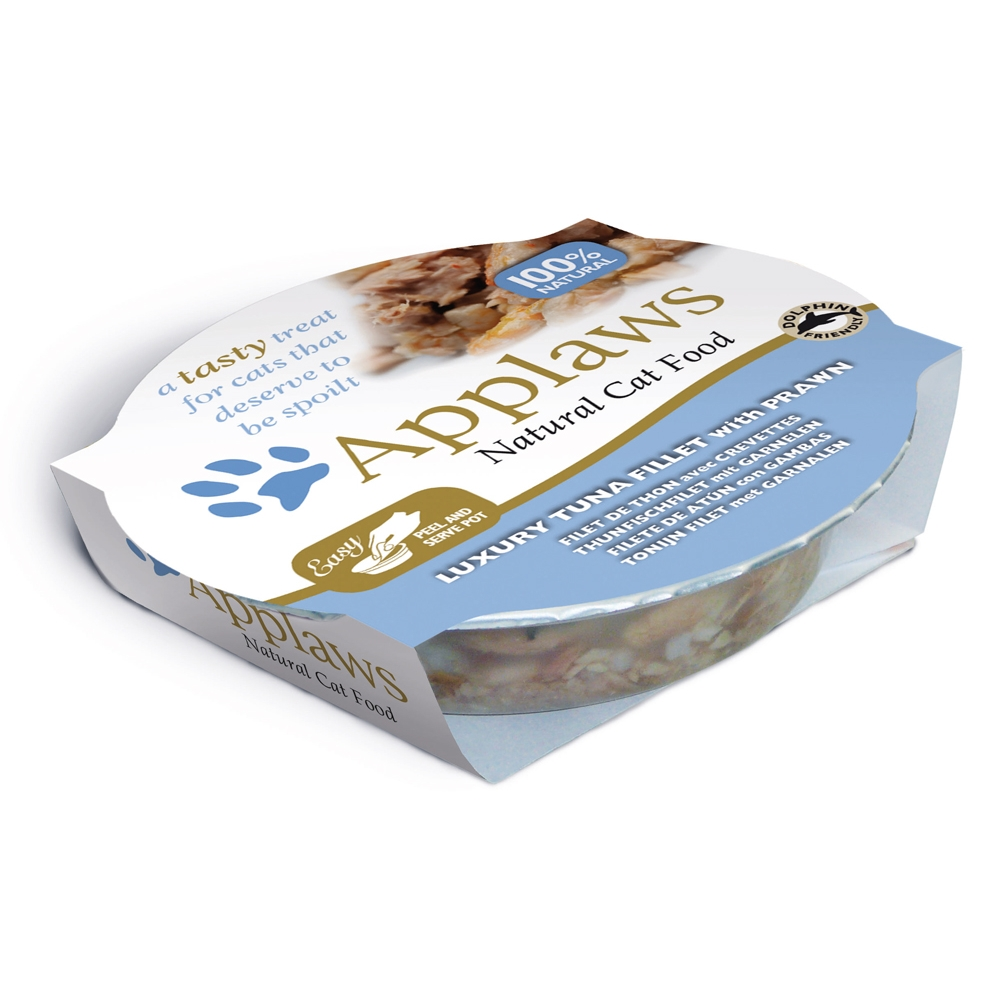 Applaws Cat Pot Thunfischfilets & Garnelen 60 g